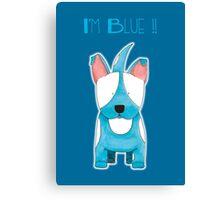 I'm Blue !! - Bull Terrier Dog Canvas Print