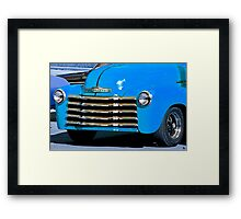 Classic Vintage Chevrolet at Antique Car Show Framed Print