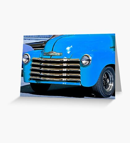 Classic Vintage Chevrolet at Antique Car Show Greeting Card