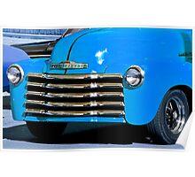 Classic Vintage Chevrolet at Antique Car Show Poster