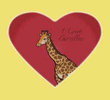 LOVE: Giraffes Kids Tee