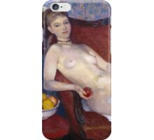William Glackens - Nude with Apple 1909-1910 iPhone Case/Skin