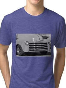 Black and White Print Restored Vintage Automobile Tri-blend T-Shirt