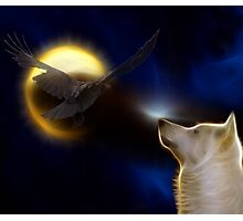 Spirits of Wolf and Crow Photographic Print