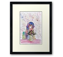 Pastel and Flowers Framed Print