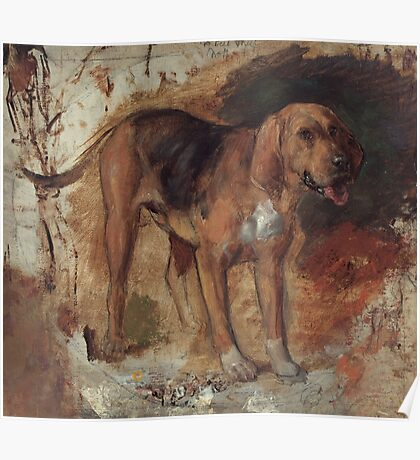 William Holman Hunt - Study of a bloodhound  Poster