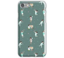 Oikawa Tooru Pattern - green iPhone Case/Skin
