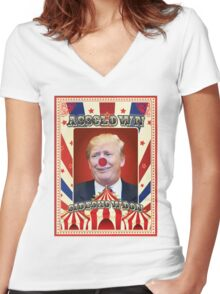 AssCLOWN Women's Fitted V-Neck T-Shirt