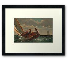 Winslow Homer - Breezing Up A Fair Wind  Framed Print