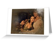 Dragonfly in Amber/Jamie & Claire Greeting Card