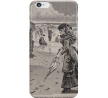 Winslow Homer - The Beach at Long Branch iPhone Case/Skin