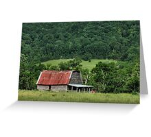 """""""A Farmer's Version of the Red Roof Inn""""... prints and products Greeting Card"""