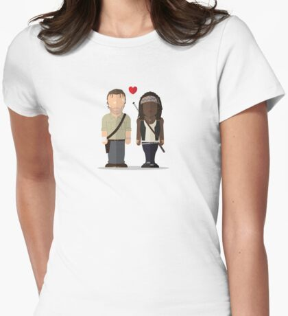 The Walking Dead - Richonne Womens Fitted T-Shirt