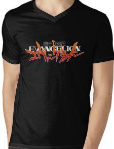 Neon Genesis Evangelion - Anime Logo Mens V-Neck T-Shirt