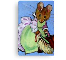 Housekeeping Mouse, After Beatrix Potter Canvas Print