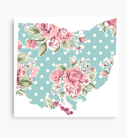 floral state Canvas Print