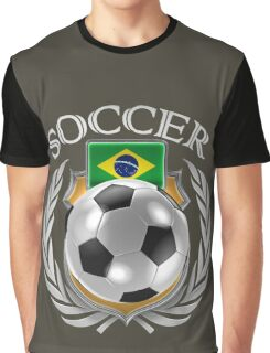 Brazil Soccer 2016 Fan Gear Graphic T-Shirt