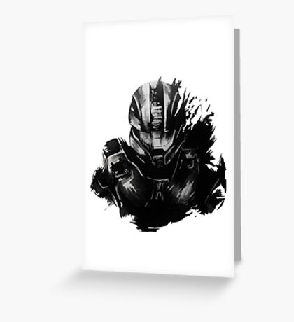 Master Chief Fragmented Greeting Card
