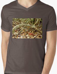 Fallen Grape Leaf Tree Branch Mens V-Neck T-Shirt