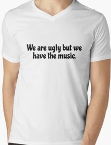 Inspirational Motivational Rock Music Lyrics Mens V-Neck T-Shirt
