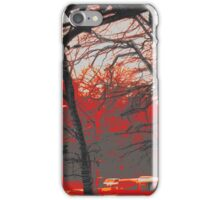 sundown by the pedestrian bridge iPhone Case/Skin