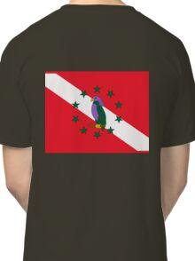 Dominica Diver Down Flag Classic T-Shirt
