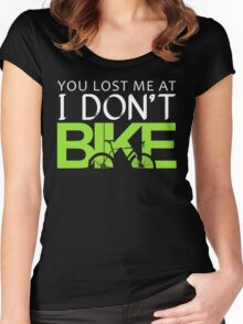 Funny Cycling Women's Fitted Scoop T-Shirt