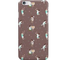 Oikawa Tooru Pattern - brown iPhone Case/Skin