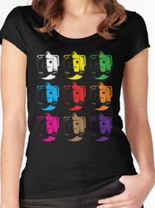 Cyberman pop art Women's Fitted Scoop T-Shirt