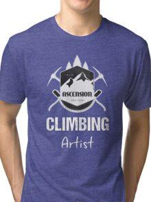 Climbing Artist T-shirt Mountaineering Design Climber mountain Tri-blend T-Shirt