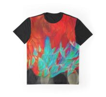 Abstract In Red Graphic T-Shirt