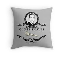 Barrows Close Shave - Downton Abbey Industries Throw Pillow