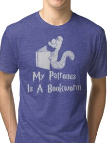 Bookworm Patronus Tri-blend T-Shirt