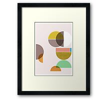 Still Life with circle Framed Print
