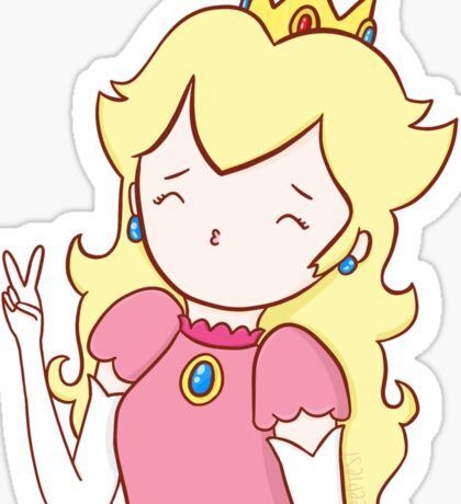 kawaii princess peach Sticker
