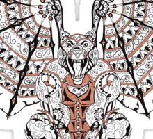 Steampunk Gargoyle - Mechanical Gargoyle Art Print Sticker