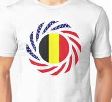 Belgian American Multinational Patriot Flag Series Unisex T-Shirt