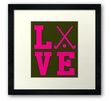 Love Field Hockey Framed Print
