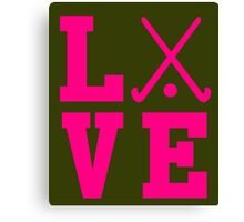 Love Field Hockey Canvas Print