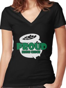 St. Patrick's Day: Proud Irish Chick Women's Fitted V-Neck T-Shirt