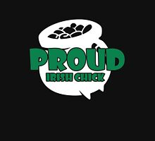 St. Patrick's Day: Proud Irish Chick Women's Fitted Scoop T-Shirt