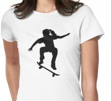 Skateboarder girl Womens Fitted T-Shirt