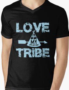 Love My Tribe Mens V-Neck T-Shirt