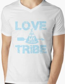 Love My Tribe Mens V-Neck T-Shirt