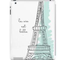 La Vie Est Belle Quote Design iPad Case/Skin