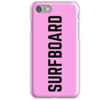PINK SURFBOARD iPhone Case/Skin