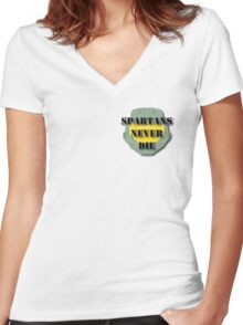 Master Chief Helmet Women's Fitted V-Neck T-Shirt