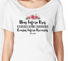 Hoes Before Bros Women's Relaxed Fit T-Shirt