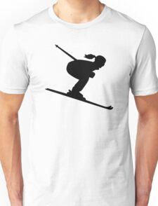 Skiing woman girl Unisex T-Shirt