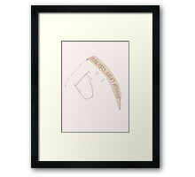 Breasts aren't offensive Framed Print